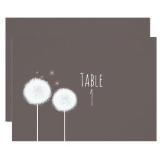 Tarjeta rústica de color topo del número de la invitación 8,9 x 12,7 cm
