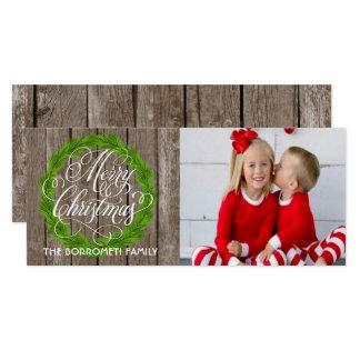 Tarjeta rústica de la foto del navidad de la