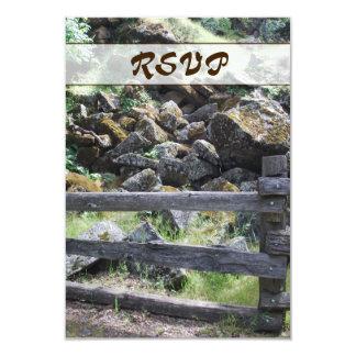 Tarjeta rústica de RSVP de la cerca del país Invitación 8,9 X 12,7 Cm