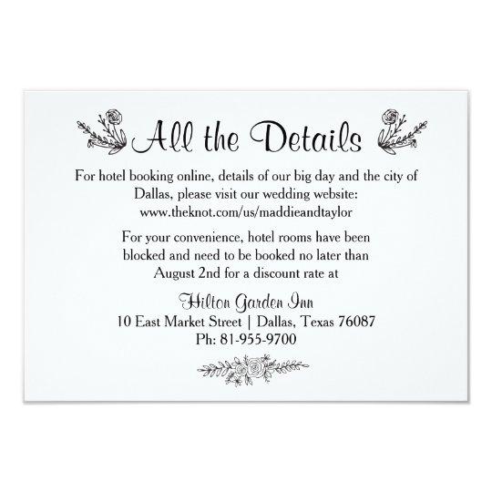 Tarjeta rústica del alojamiento del boda de la invitación 8,9 x 12,7 cm