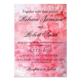 Tarjeta Rústico color de rosa viejo rosado romántico