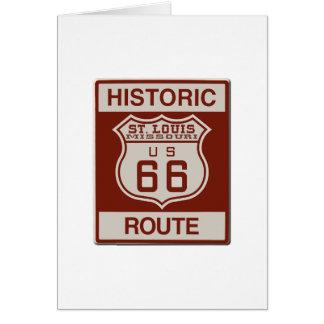 Tarjeta Ruta 66 de St. Louis