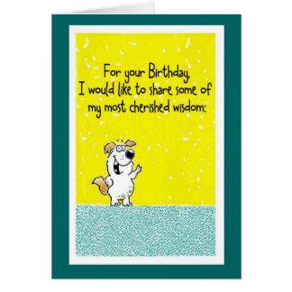 Tarjeta Sabiduría del cumpleaños