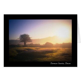 Tarjeta Salida del sol de Dartmoor, Devon