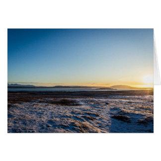 Tarjeta Salida del sol de Islandia