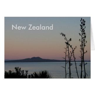 Tarjeta Salida del sol de Nueva Zelanda