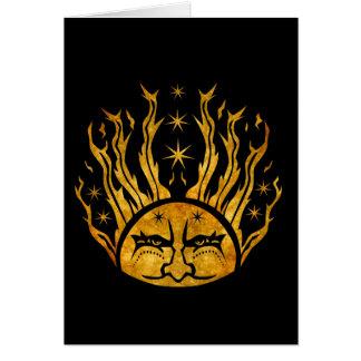 Tarjeta Salida del sol de oro