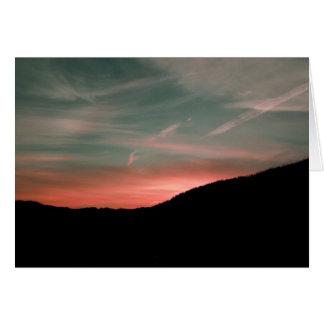 Tarjeta Salida del sol de septiembre