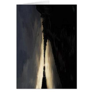 Tarjeta Salida del sol del río Columbia