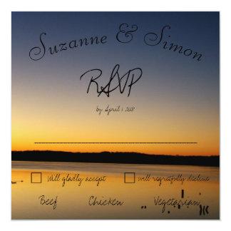 Tarjeta Salida del sol en el lago RSVP