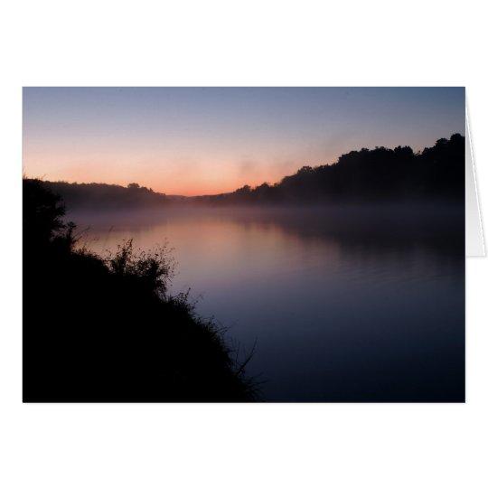Tarjeta Salida del sol en el lago Shenandoah