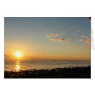 Tarjeta Salida del sol en la playa amplia