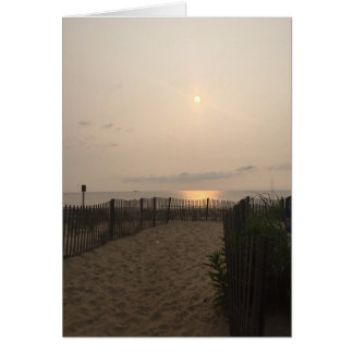 Tarjeta Salida del sol Océano Atlántico de Delaware de la