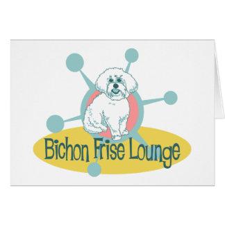 Tarjeta Salón retro de Bichon Frise
