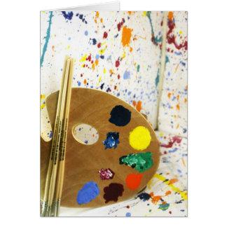 Tarjeta Salpicadura de la pintura de los artistas y