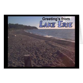 Tarjeta Saludo de la playa del lago Erie Ohio