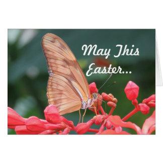 Tarjeta Saludo de Pascua de la mariposa