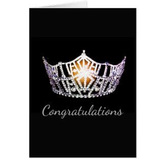 Tarjeta Saludo de plata de la corona de Srta. América