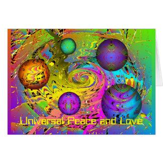 Tarjeta Saludo del día de fiesta del universo de la