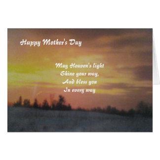 Tarjeta Saludo del día de madre tarjeta-Espiritual