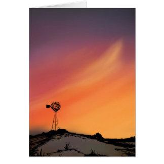Tarjeta Saludo del molino de viento Tarjeta-En blanco