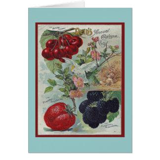 Tarjeta saludo del vintage de los jardineros