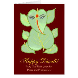 Tarjeta Saludo feliz de Ganesha Diwali del adorno