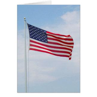 Tarjeta Saludo o Notecard #1 de la bandera americana