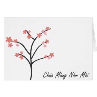 Tarjeta Saludo vietnamita del Año Nuevo
