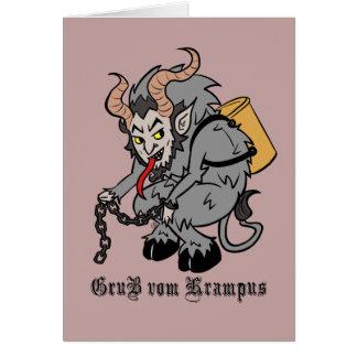 Tarjeta Saludos de Krampus en gris