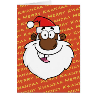 Tarjeta Saludos de Kwanzaa del navidad de Santa del