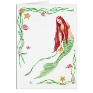 Tarjeta Saludos de la marea de Yule por el arte de Deanna