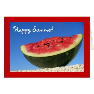 Tarjeta Saludos de la sandía del verano