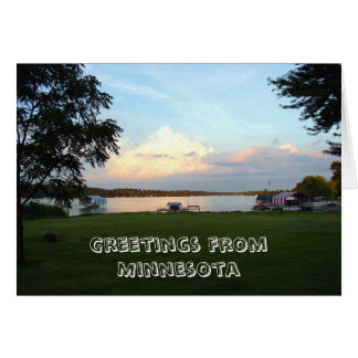 Tarjeta Saludos de Minnesota