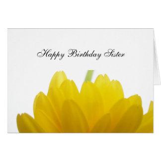 Tarjeta Saludos del cumpleaños de la hermana