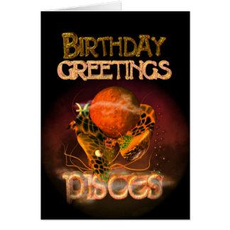 Tarjeta Saludos del cumpleaños de Piscis por Valxart