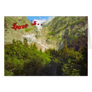 Tarjeta Saludos del cumpleaños - glaciar, Grindelwald