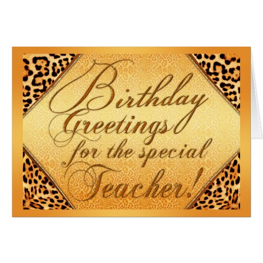 Tarjeta Saludos del cumpleaños para el profesor especial