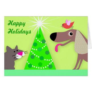Tarjeta Saludos del día de fiesta del canguro del mascota