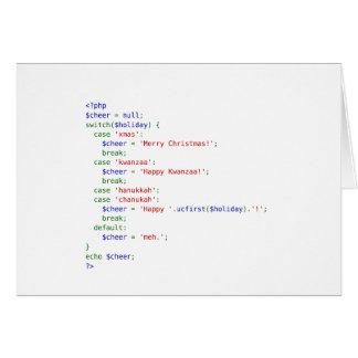 Tarjeta Saludos del día de fiesta del PHP