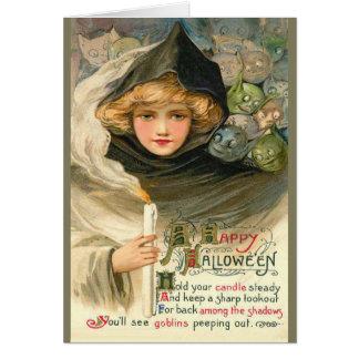 Tarjeta Saludos del Goblin de Halloween