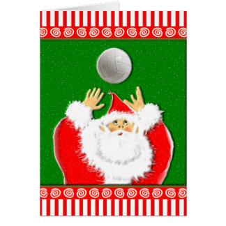 Tarjeta Saludos del navidad del voleibol
