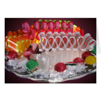 Tarjeta ¡Saludos dulces del día de fiesta!