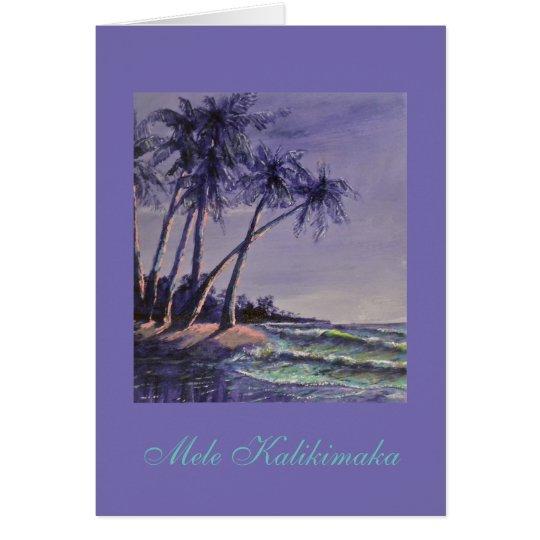 Tarjeta ¡Saludos hawaianos del navidad!