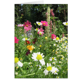 Tarjeta salvaje del jardín