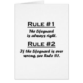 Tarjeta Salvavidas de la regla