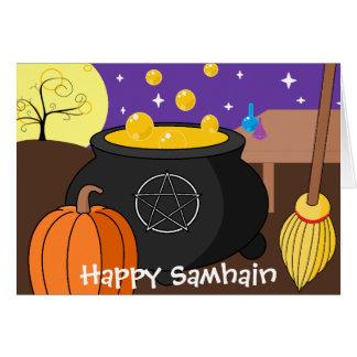 Tarjeta Samhain feliz