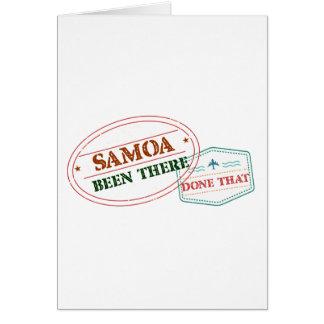 Tarjeta Samoa allí hecho eso