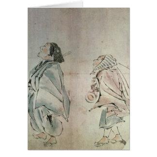 Tarjeta Samurai que es seguido por un criado
