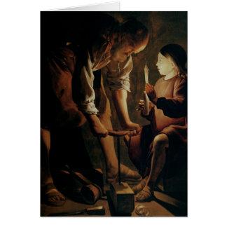 Tarjeta San José, el carpintero